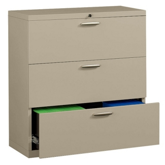 "36"" Wide Three-Drawer Lateral File with Counterweights, 30574"