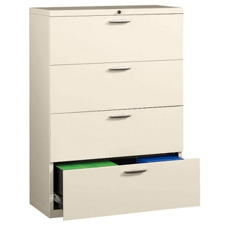 """42"""" Wide Four-Drawer Lateral File with Counterweights, 30577"""