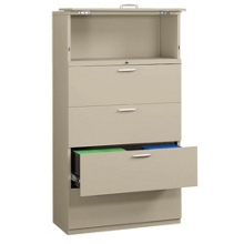 """Five-Drawer 36"""" Wide Lateral File with Counterweights, 30580"""