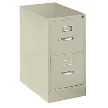 "510 Series 25""D Two Drawer Letter File with Lock, 30705"