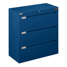 "Spectrum Three Drawer Lateral File with Counterweight - 36""W, 30586"