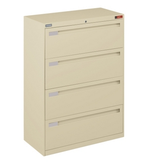 "Spectrum Four Drawer Lateral File with Counterweight - 36""W, 30588"
