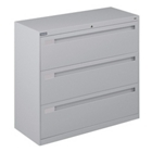 "42"" Wide Lateral File with Three Drawers and Counterweight, 30587"