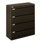 "42"" Wide Lateral File with Four Drawers and Counterweight, 30589"