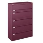 "Counterweighted Five Drawer 42"" Wide Lateral File, 30591"