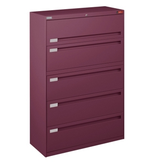 """Spectrum Five Drawer Lateral File with Counterweight - 42""""W, 30591"""
