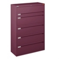 "Spectrum Five Drawer Lateral File with Counterweight - 42""W, 30591"