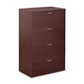 Four Drawer Wood Grain Laminate Lateral File, 30843