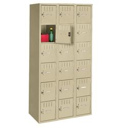 Six Tier Box Locker Set - Three Wide, 31245