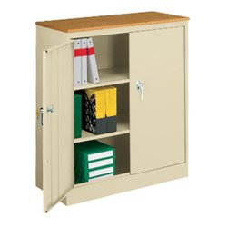 Counter Height Storage Cabinet with Wood Top - 31282 and more Office ...