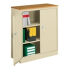 Counter Height Storage Cabinet with Wood Top, CD03902