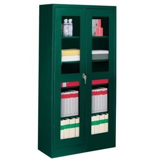 "36""W x 18""D x 72""H Storage Cabinet with See-Thru Doors, 31289"
