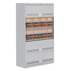 "Fixed Shelf Lateral File with Five Shelves - 64""H, 31446"