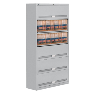 "Fixed Shelf Lateral File with Six Shelves - 76""H, 31447"