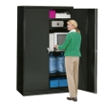 "Fully Assembled Jumbo Steel Storage Cabinet - 18""D, 31481"