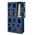 3 Wide Double-Tier Locker with See-Thru Doors, 31530