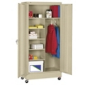 "48""W x 24""D x 85""H Mobile Wardrobe Storage Cabinet, 31729"