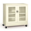 "48""W x 24""D x 49""H Jumbo Mobile See-Thru Storage Cabinet, 31733"