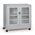 """36""""W x 18""""D x 49""""H Mobile See-Thru Storage Cabinet, 31998"""