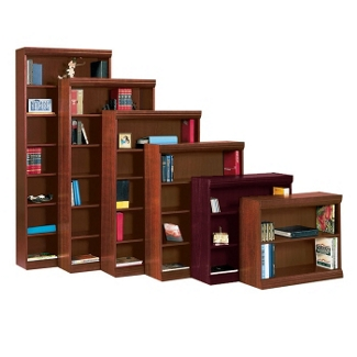 "Traditional Bookcase with Reinforced Shelves - 36""H, 32095"