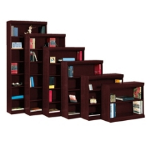 "Traditional Bookcase with Reinforced Shelves - 84""H, 32099"