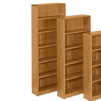 """Radius Edge Bookcase - 84""""H, 32278"""