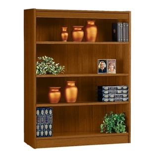 "Four Shelf Square Edge Reinforced Bookcase - 48"", 32344"