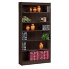 "Six Shelf Square Edge Reinforced Bookcase - 72"", 32346"