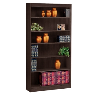 "Six Shelf Square Edge Reinforced Bookcase - 72"", 32346"