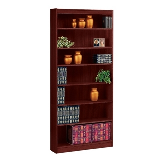 "Seven Shelf Square Edge Reinforced Bookcase - 84"", 32347"