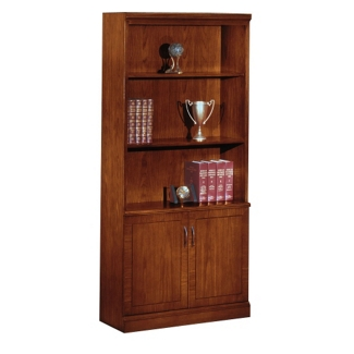 Executive Cherry Bookcase with Doors, 32611