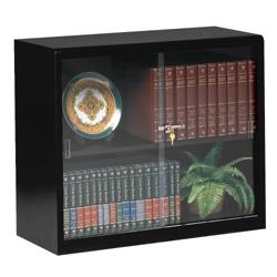 "30""H Two Shelf Glass Door Bookcase, 32789"