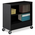 "37""H Two Shelf Mobile 18""D Bookcase, 32801"