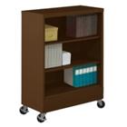 "49""H Three Shelf Mobile 18""D Bookcase, CD03962"