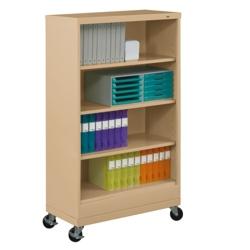 "62""H Four Shelf Mobile 18""D Bookcase, 32803"