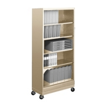 "79""H Five Shelf Mobile 18""D Bookcase, 32804"