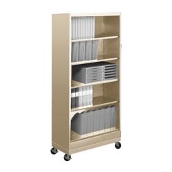 "79""H Five Shelf Mobile 18""D Bookcase, 32804"