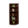 "67""H Five Shelf Corner Bookcase, 32870"
