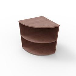 """29""""H 2 Shelf Curved Corner Bookcase , 32969"""