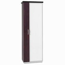 "72""H Five Shelf Glass Door Storage Cabinet With Left Hand Wardrobe, 32976"