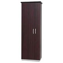 "72""H Five Shelf Storage Cabinet With Right Hand Wardrobe, 32977"