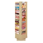 Revolving Literature Rack with 80 Magazine Pockets, 33047