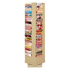 Revolving Literature Rack with 80 Magazine Pockets, 33047