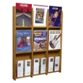 Wood Twelve Pocket Magazine and Brochure Rack, 33101