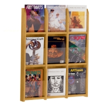 Wood Nine Pocket Magazine Rack, 33102