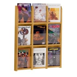 Wood Nine Pocket Magazine Rack, 33102