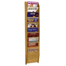 Wood Ten Pocket Magazine Rack, 33103