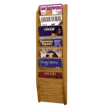 Wood Seven Pocket Magazine Rack, 33104
