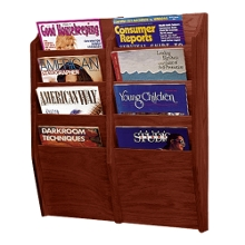 Wood Eight Pocket Magazine Rack, 33105