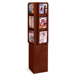 Literature Carousel with 12 Magazine Pockets, 33144